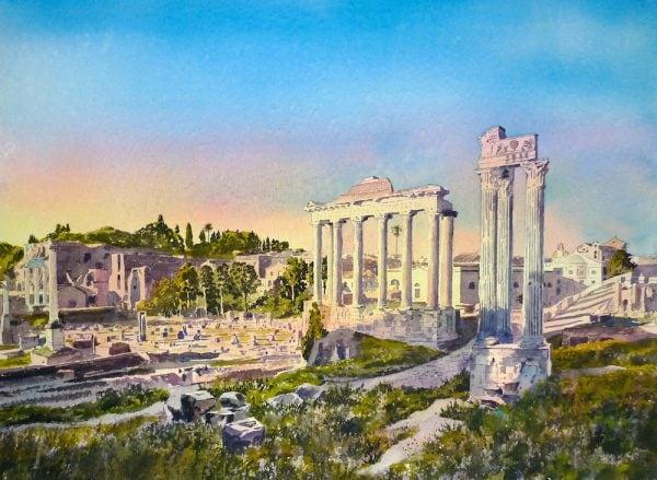 Roman Forum Painting