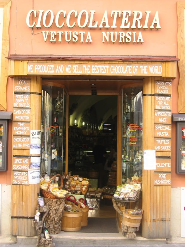 Shop Sign, Norcia, Umbria