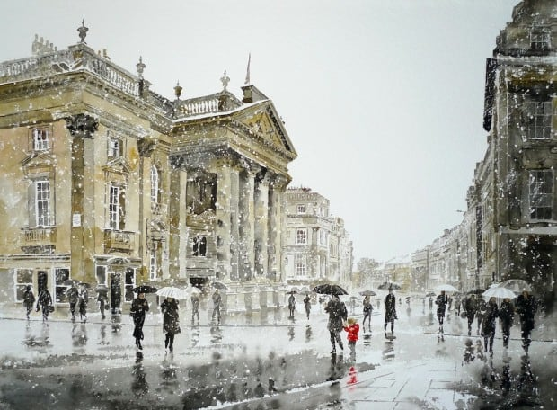 Grey Street, Snow Shower limited edition print