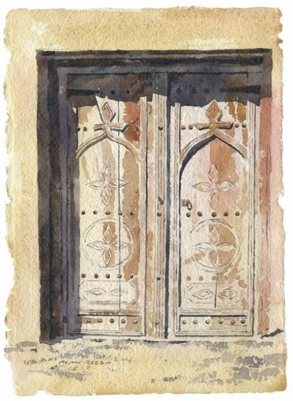 Ancient Door, Oman painting by Newcastle artist Alan Reed .jpeg