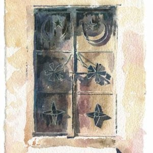 Ancient Omani Doors painting by Alan Reed .jpeg
