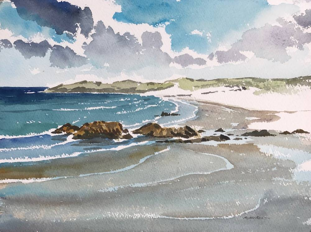 Balevullin Beach, High Tide, Tiree