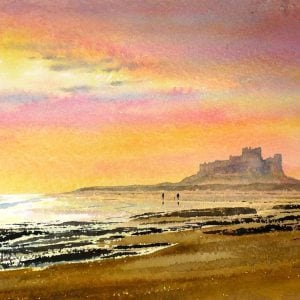 Bamburgh Castle Winter Sunrise.JPG