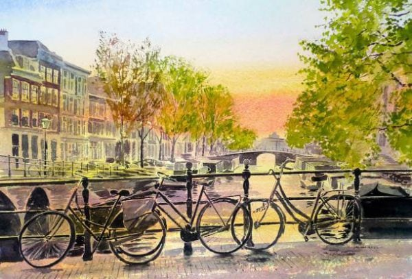 Bikes in Amsterdam Print.jpeg