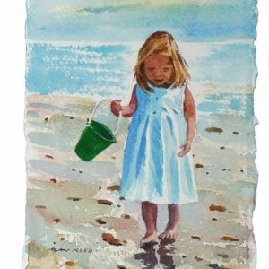 Collecting Shells, Green Bucket.jpeg