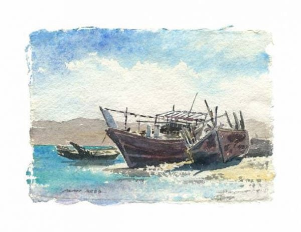 Dhows Sur no 1 Gulf Art.jpeg