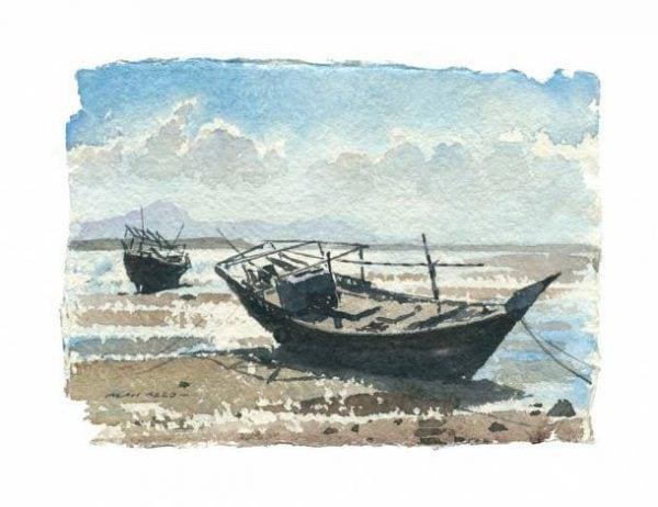 Dhows Sur No 2 Gulf Art.jpeg