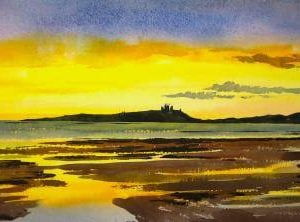 Dunstanburgh Castle print by Newcastle Artist Alan Reed.jpeg