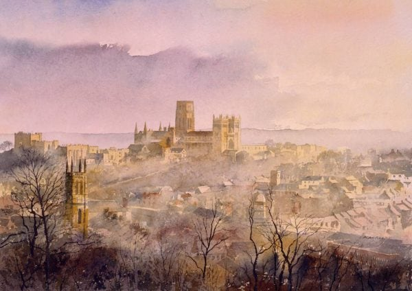 Durham Cathedral painting by artist Alan Reed.jpg