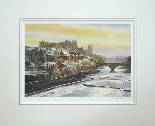 Durham in the Snow Mounted Print.jpeg