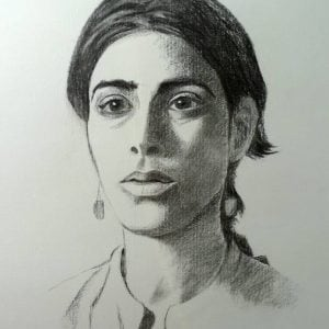 Emanuela, Portrait in Charcoal.jpeg
