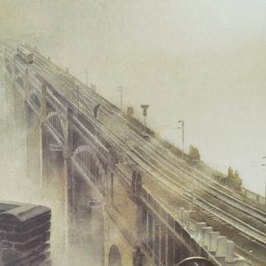 High level bridge, Fog on the Tyne Newcastle magnetic bookmark.jpeg
