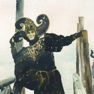 Jester, Venetian Carnivale Bookmark.jpeg