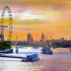 London Eye At Prints
