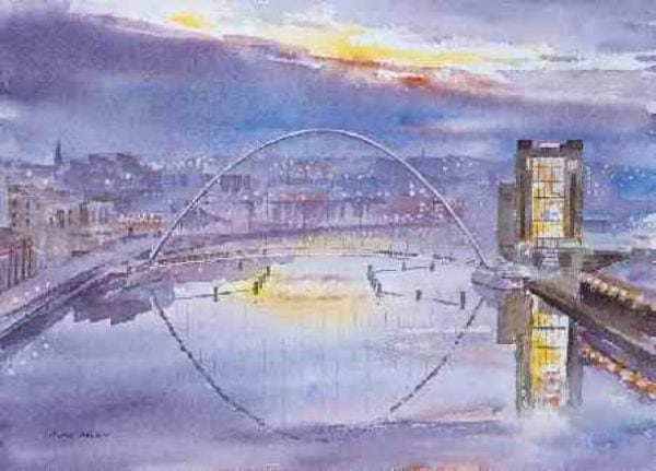 Newcastle Prints Tyne Bridges at Dawn.jpeg