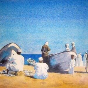Fishermen Barka Oman