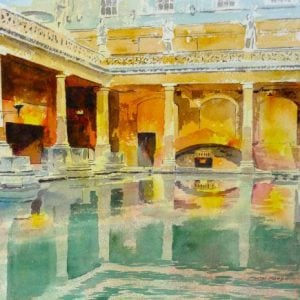 Roman Baths Painting