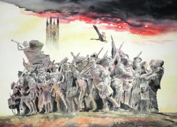War Memorial Painting
