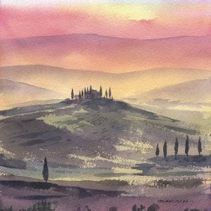 Limited edition print of Tuscany