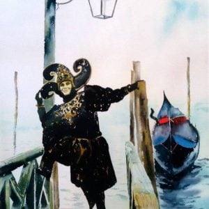 The Jester Venice Painting