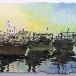 Dhow Art Paintings Prints