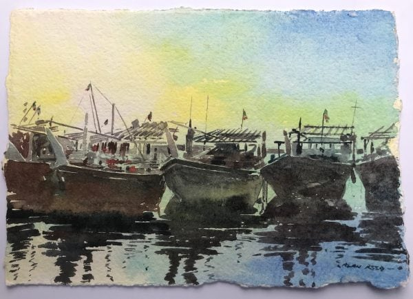 Dhow Art Paintings Prints