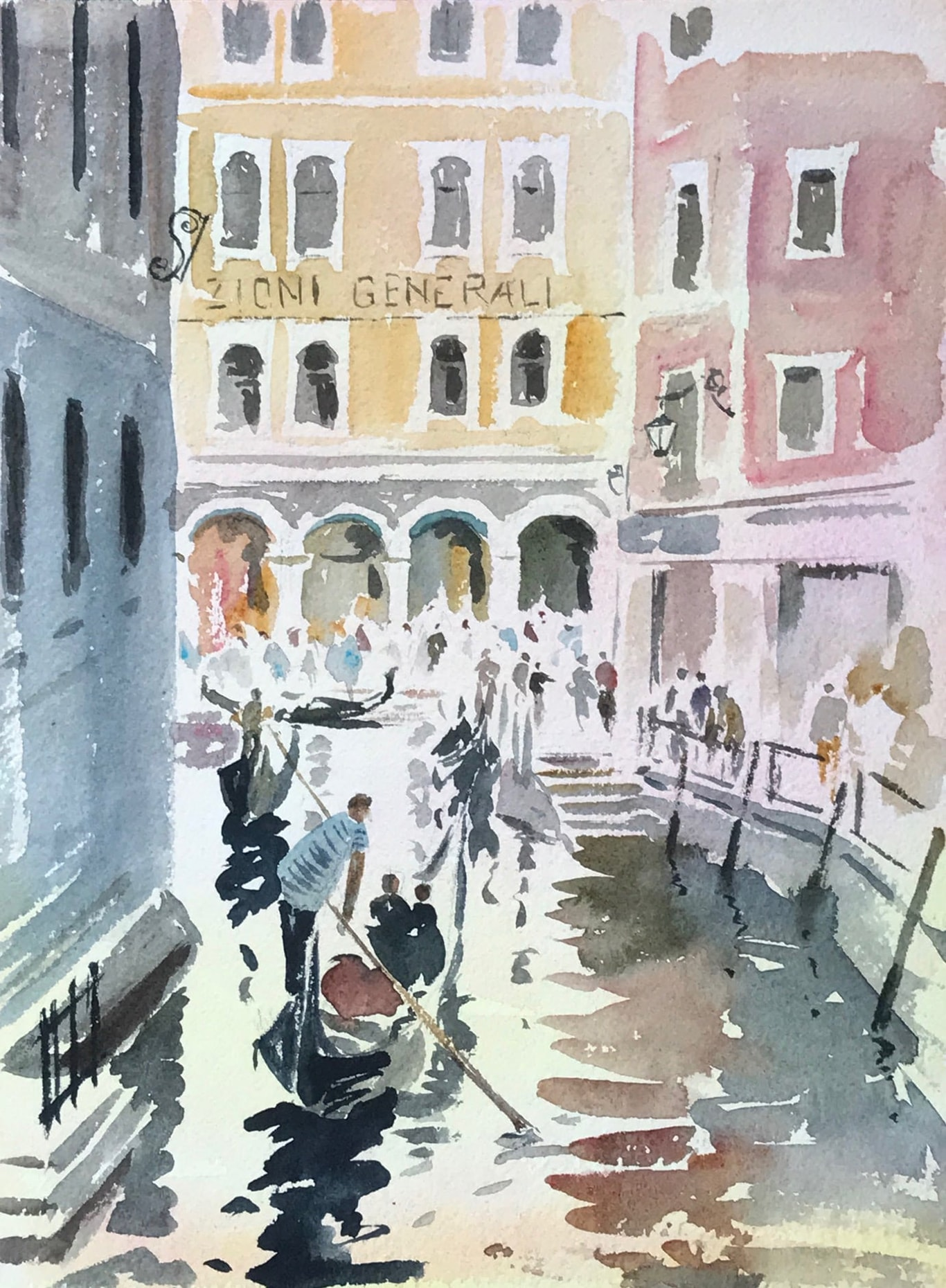 Gondola Paintings Venice