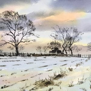 Winter Trees paintings