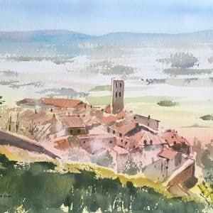 Cortona Tuscany painting