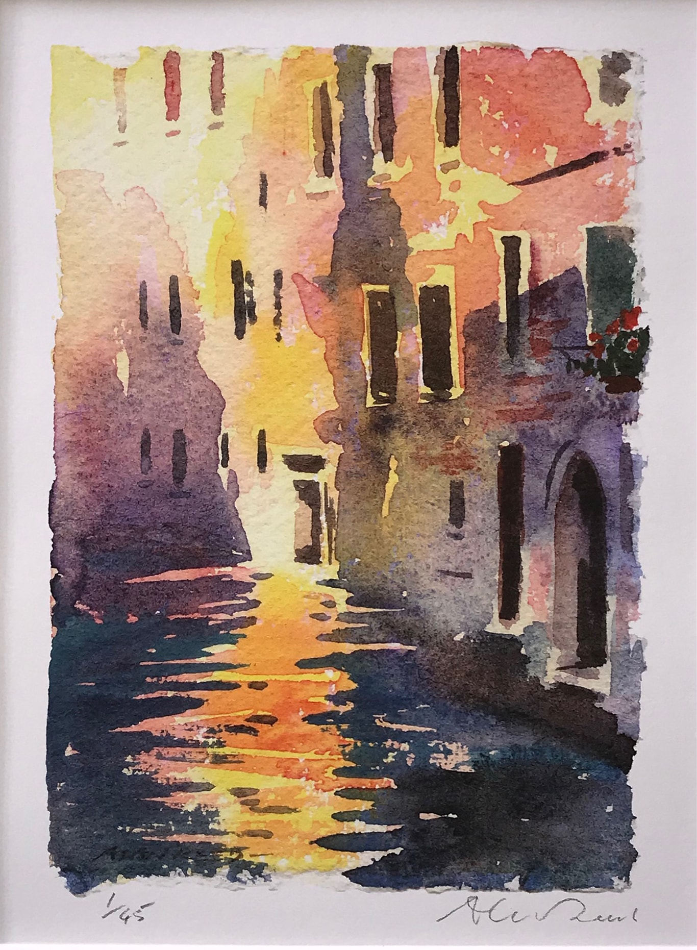 Sunlight in Venice Print