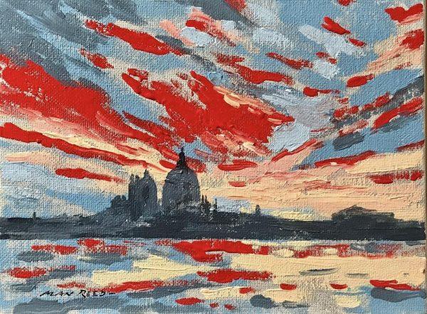 Venetian Sunset Original Painting